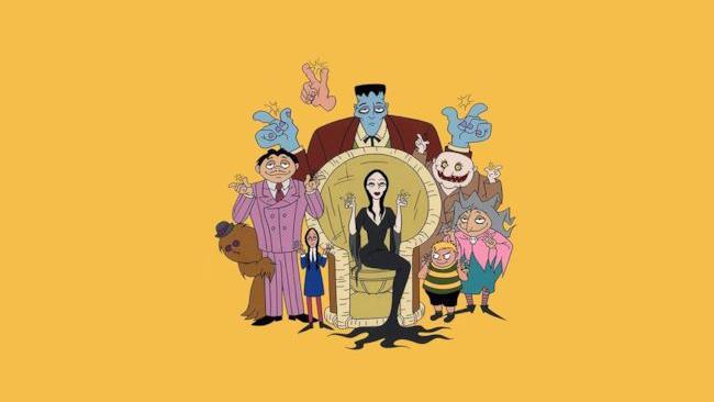 La Famiglia Addams in versione cartoon