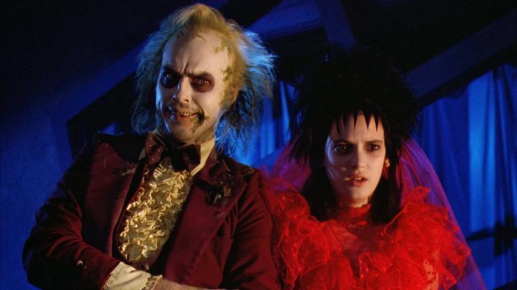 Michael Keaton e Wynona Rider in Beetlejuice