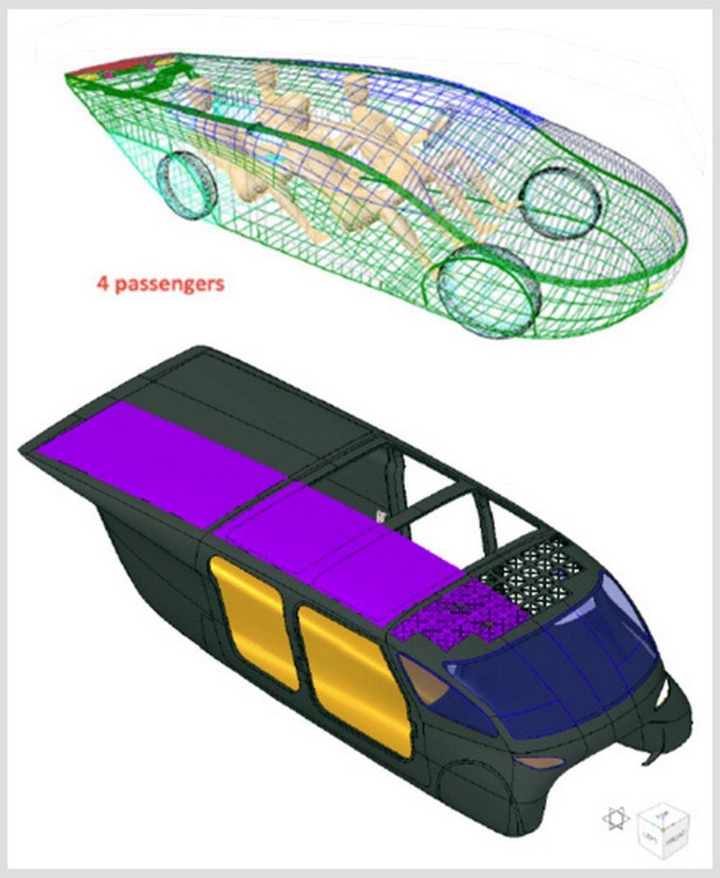 I posti a sedere dell'auto solare italiana Emilia4
