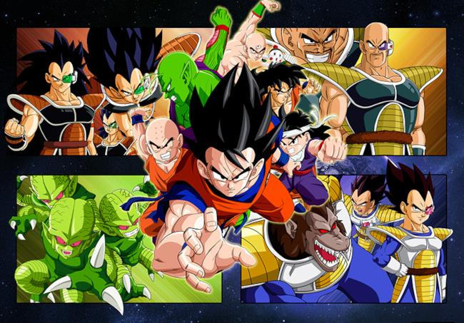 Gli eroi protagonisti di Dragon Ball Z