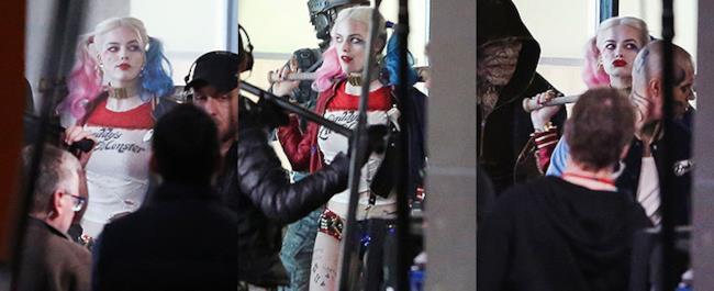 Prime foto di Margot Robot nel ruolo di Harley Quinn