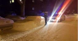 L'auto di neve che ha ricevuto la multa