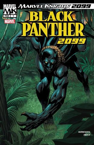 La copertina di Marvel Knights: Black Panther 1