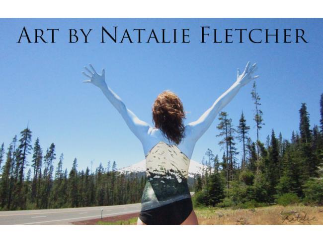 Body paint e Natura di Natalie Fletcher