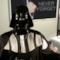 Un frame della video parodia Darth Vader del professore della BBC