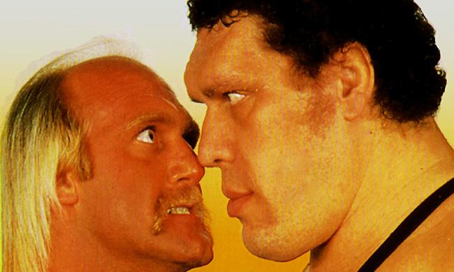 André the Giant faccia a faccia col grande Hulk Hogan