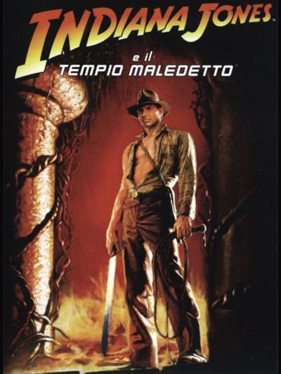 La locandina de Indiana Jones e il tempio maledetto