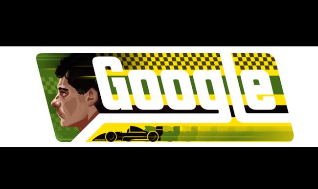 Ayrton Senna nel logo di Google personalizzato