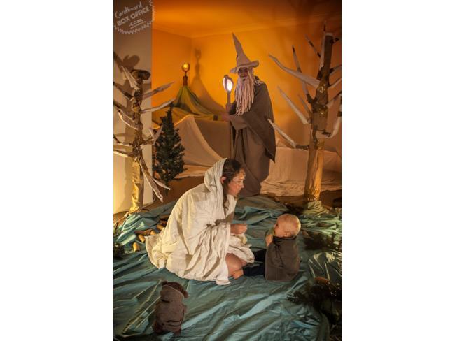 Scena de Il Signore degli Anelli ricreata da padre e figlio