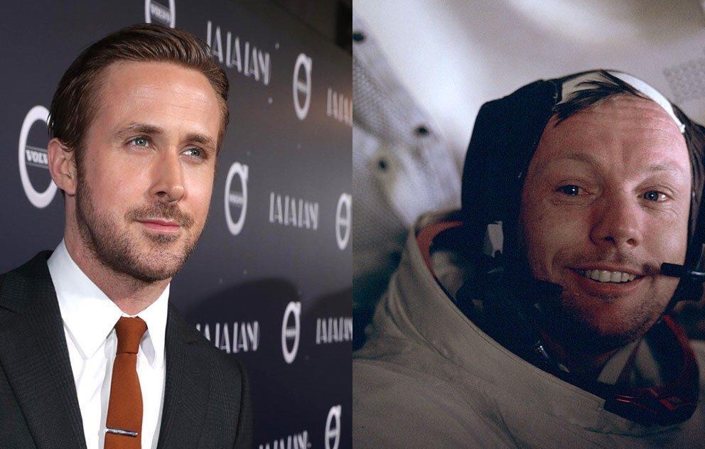 La foto dell'attore e dell'astronauta