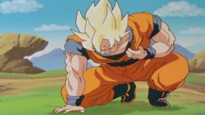 Goku sofferente