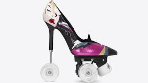 Le nuove scarpe di YSL, le Anya 100 Patch Pump Roller