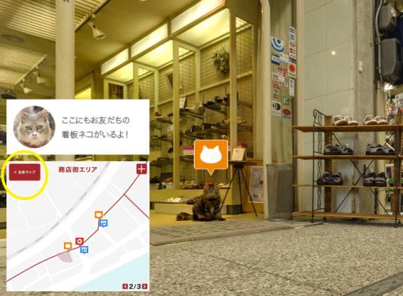 I dettagli della mappa di Cat Street View