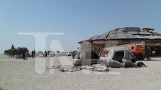 Foto dal set di Star Wars: Tatooine