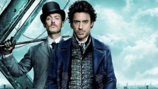 Due attori del film Sherlock Holmes