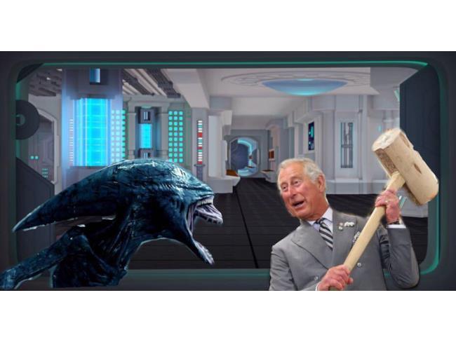 Il Principe Carlo contro Alien