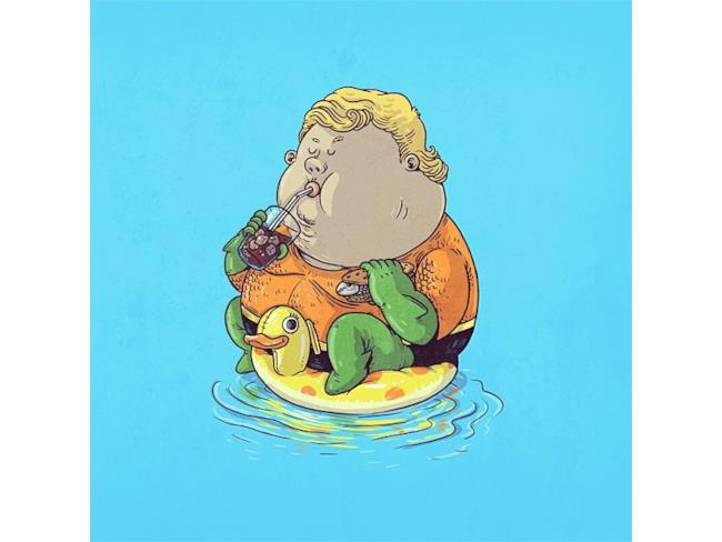 Aquaman in versione obesa
