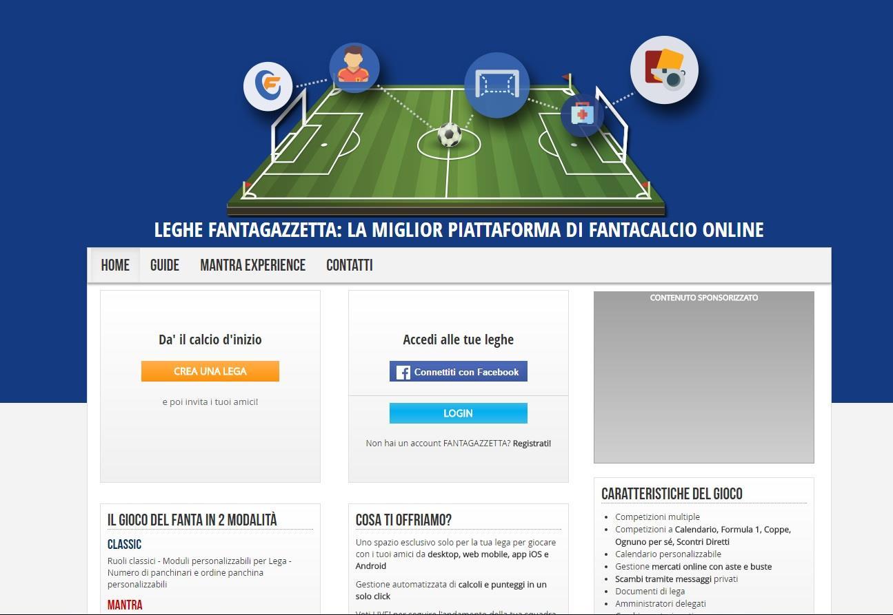 La homepage di Fantagazzetta