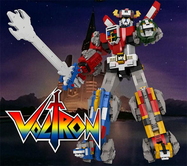 Un'immagine tratta dall'anime Voltron, per farci un'idea di come potrà essere il corrispettivo LEGO.