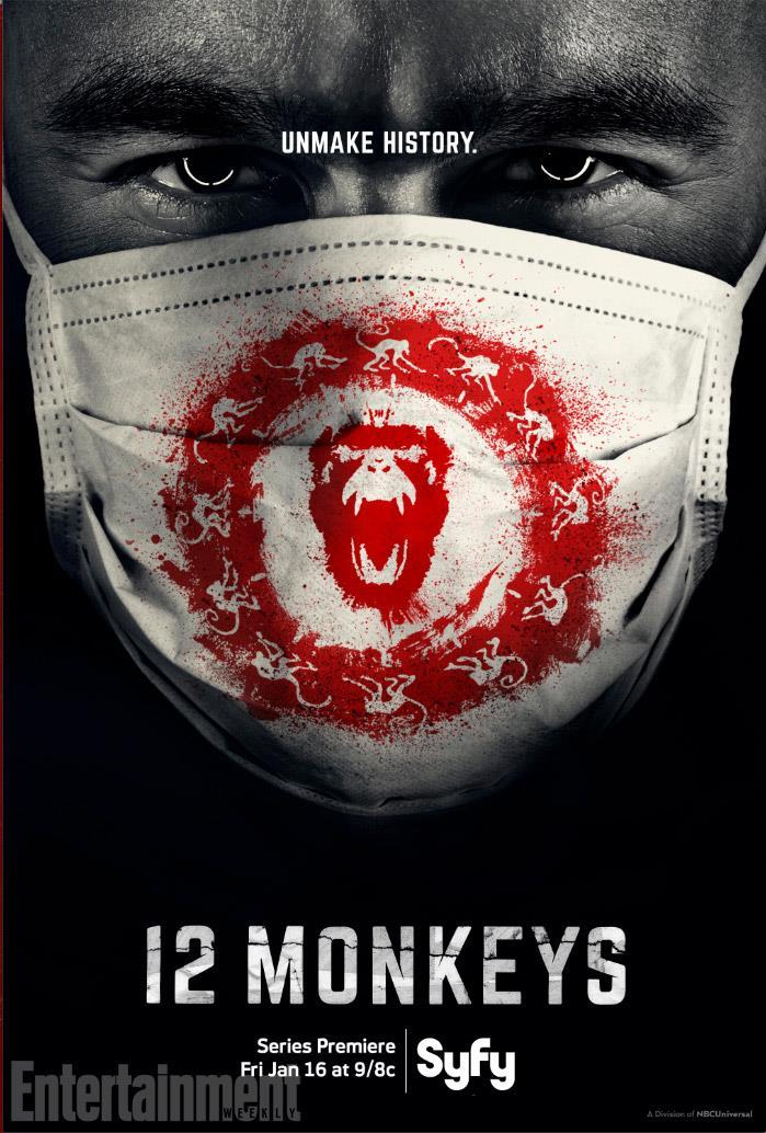 12 monkeys, la locandina ufficiale