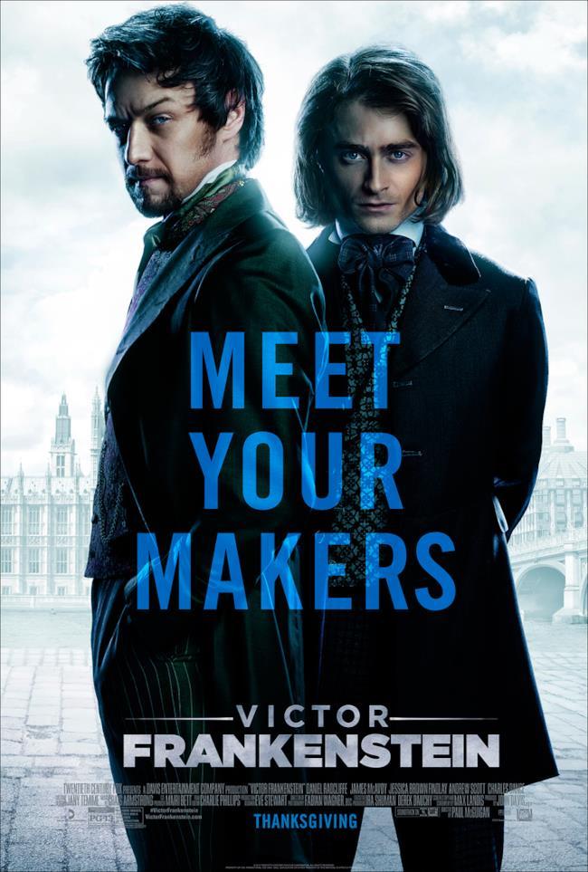 Il poster ufficiale di Victor Frankenstein con protagonista Igor