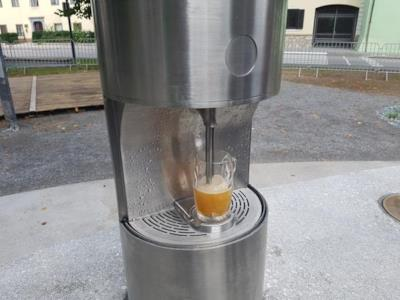 Ecco la fontana di birra pubblica inaugurata in Slovenia