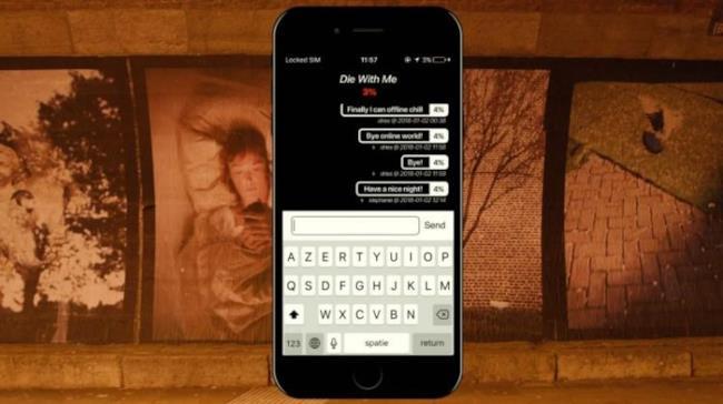 Ecco Die With Me, l'app che funziona con la batteria scarica