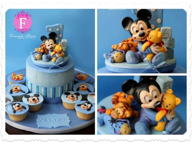 Torta e cupcake con personaggi Disney