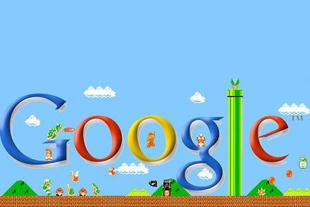 Mario nel logo di Google
