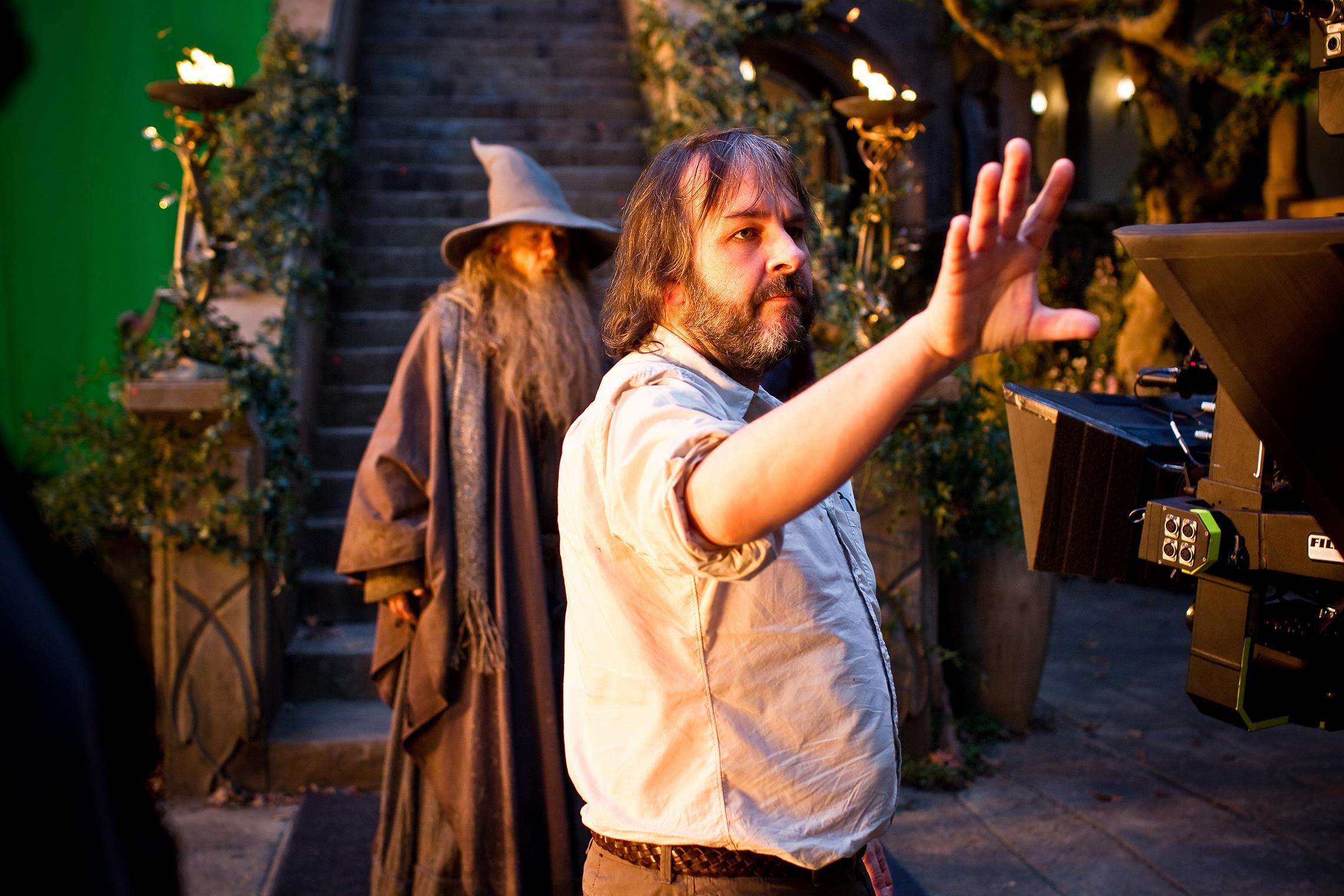 La foto del regista sul set di un suo film.