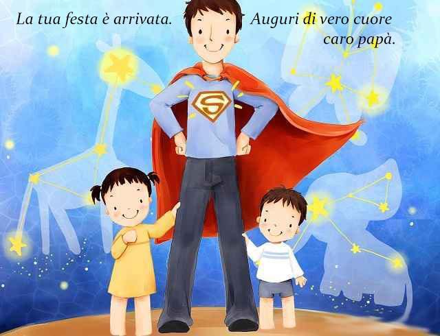 Un padre vestito da Superman - Immagini da scaricare per la Festa del Papà