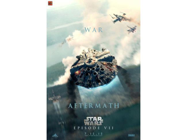 Poster del Millennium Falcon in Star Wars 7
