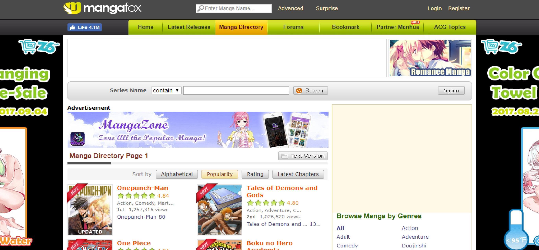 Homepage del sito