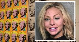La Layman e alcune opere di Warhol sullo sfondo