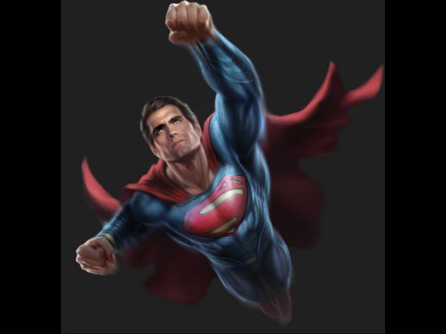 Superman in una concept art per Dawn of Justice