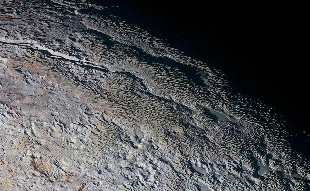 Uno scatto di metano dalla sonda New Horizons