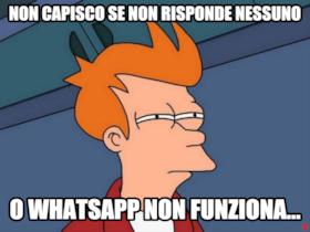 non capisco se non risponde nessuno o whatsapp non funziona...