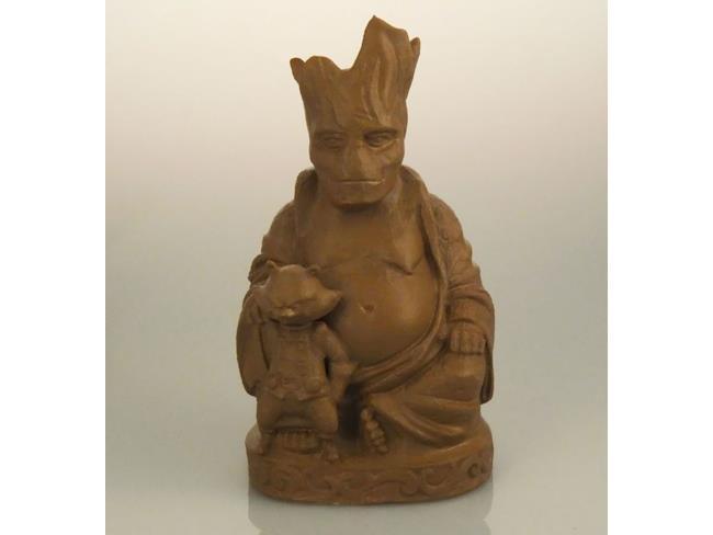 Groot e Raccoon in versione Buddha