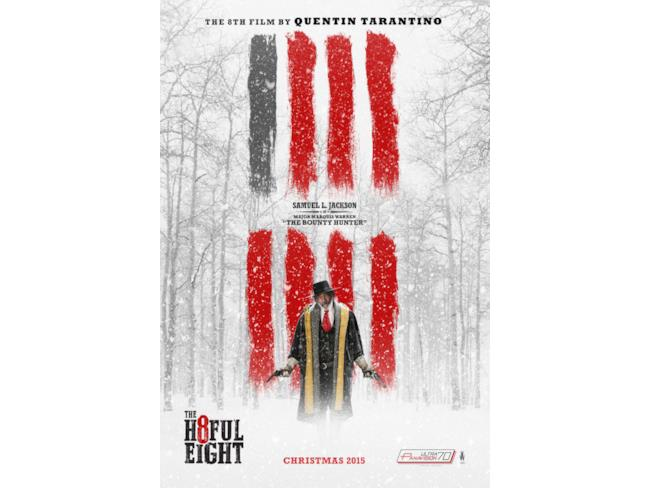 Il character poster di The Hateful Eight con Samuel L. Jackson