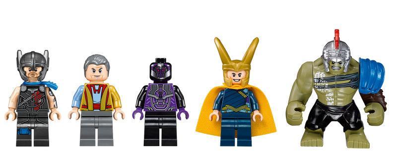I sei personaggi dei set LEGO di Thor: Ragnarok