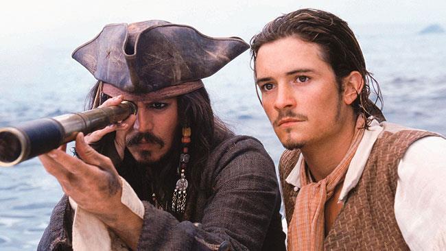 Jack Sparrow e Will Turner in Pirati dei Caraibi
