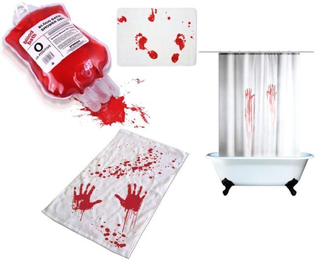La tenta da doccia insanguinata per Halloween