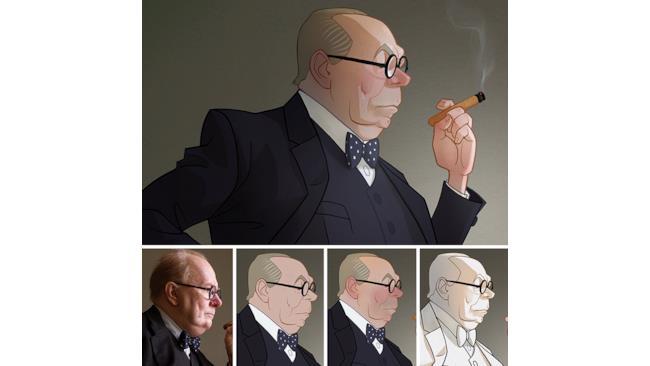 Winston Churchill visto ne L'ora più buia