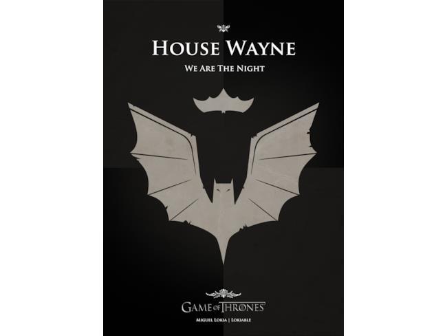 Il banner di Casa Wayne in stile Game of Thrones