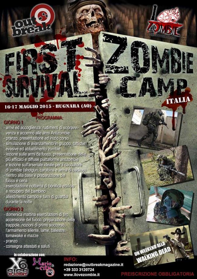 Il programma del primo Zombie Survival Camp italiano