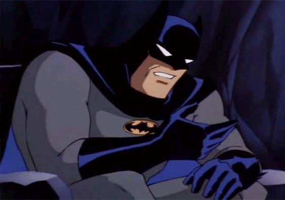 Batman si vergogna - GIF di reazione ai commenti, le più divertenti da usare su Whatsapp e Facebook