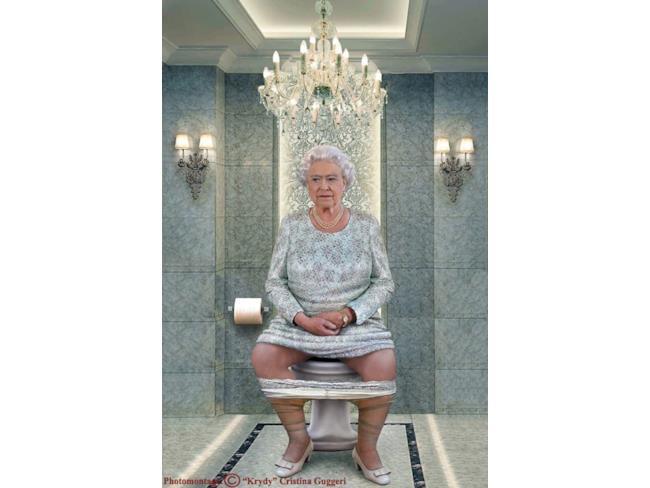 La Regina Elisabetta II al gabinetto