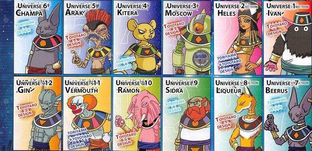 tutti e 12 gli Dei della Distruzione di Dragon Ball Super
