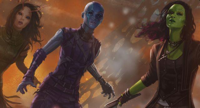 Gamora, Nebula e Mantis, le protagoniste femminili di Guardiani della Galassia.