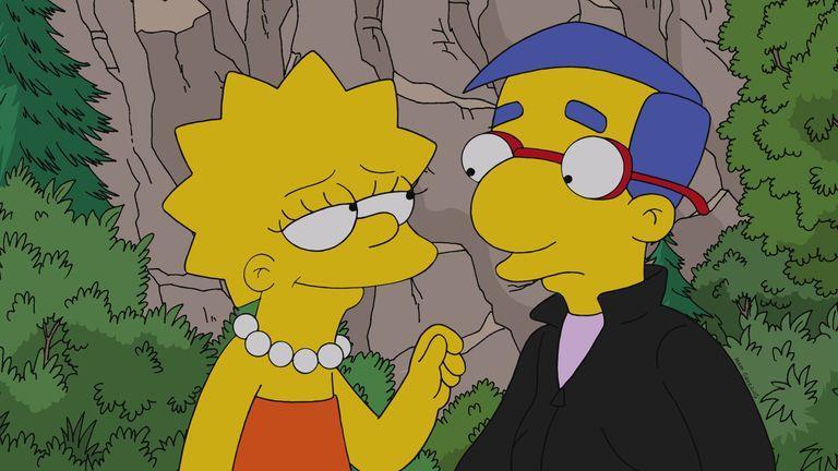 Lisa si appresta a baciare Millhouse